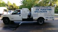 Duct Cleaning done right with our duct cleaning truck.